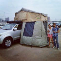 Extension tente de toit - Road trip 4×4 en Afrique