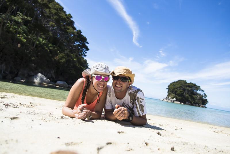 2 jours de rando en Kayak et à pied: petite pause sur la plage