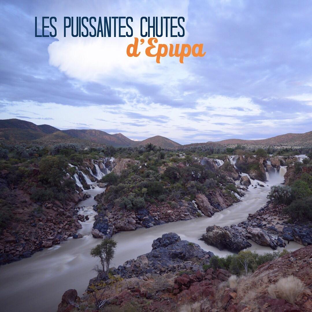 Les puissantes chutes d'Epupa en Namibie