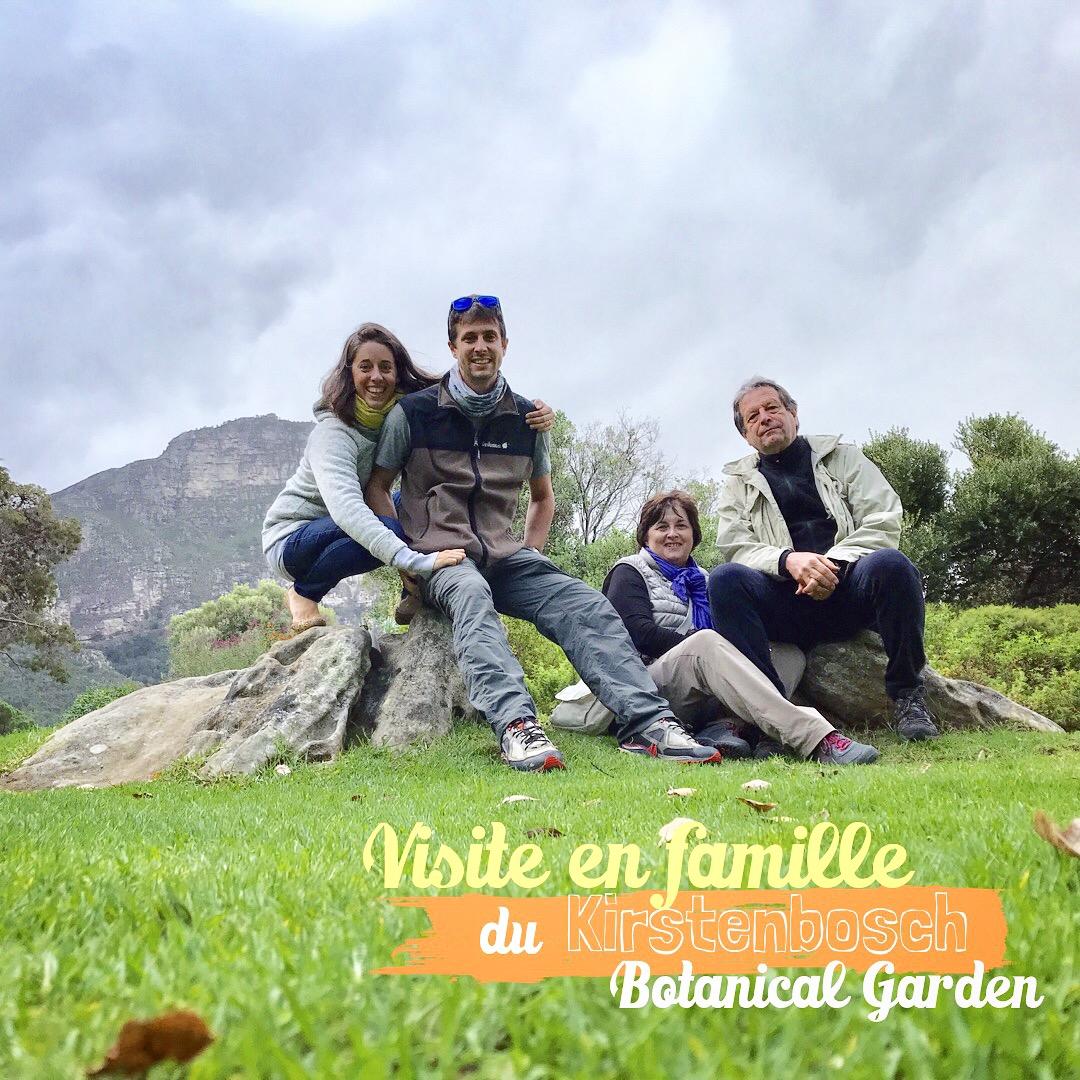 Anne-Laure et Grégoire en famille au Kirstenbosch Botanical Garden de Cape Town